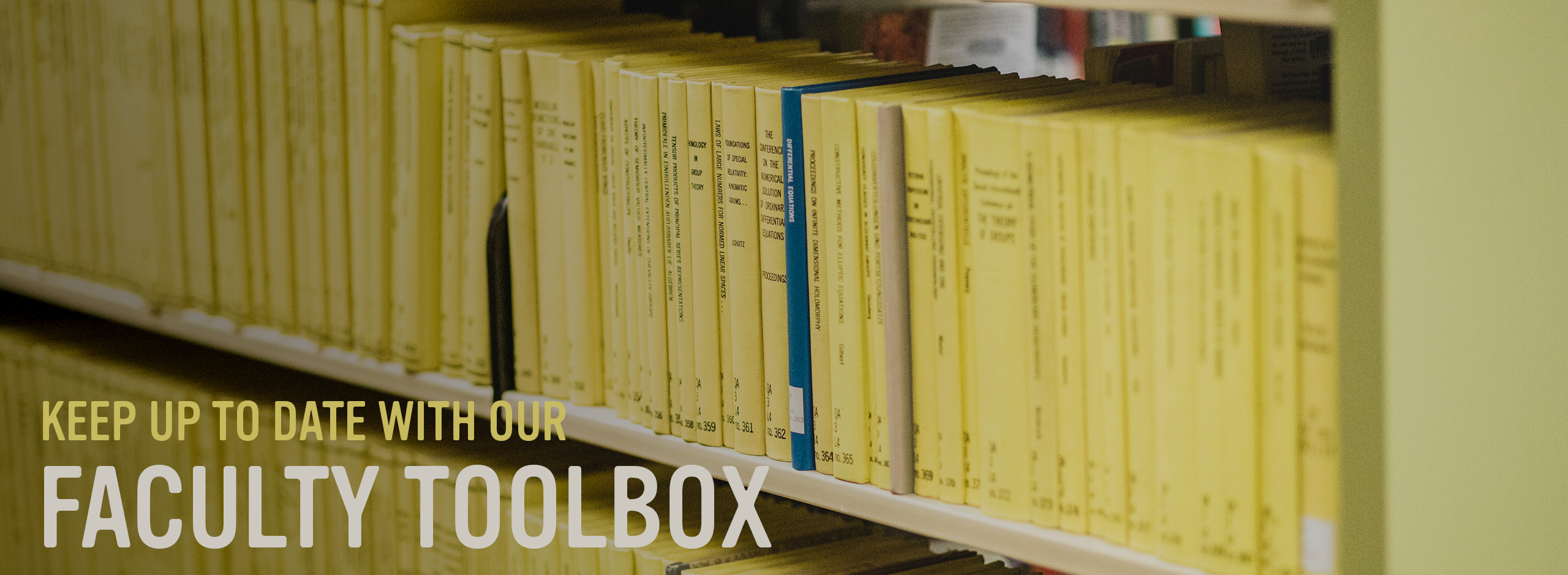 click here to find out about our faculty toolbox